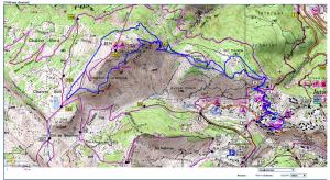 Carte Plan - Parcours 12-6km - AURON MOUNTAIN TRAIL COTE D'AZUR